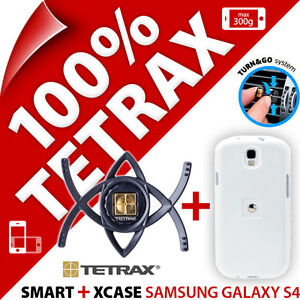 Tetrax Bundle Smart In Car Vent Holder + Xcase Case Cover for Samsung Galaxy S4