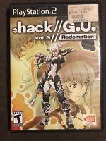 .hack G.U.: Vol. 3 - Redemption (Sony PlayStation 2) ✅CIB/Complete ✅Tested