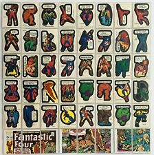 Marvel Super Heroes Vintage Sticker Card Set 40 Stickers 9 Checklists 1975