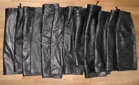 12x Plupart Genou-Longueur Jupe en Cuir / Lisse Noir Divers Tailles