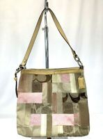 COACH  Multi-color Canvas  Patchwork & leather  hobo bag  # F13723