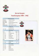 Kevin Keegan Southampton 1980-1982 Etiqueta Original Firmado F.K.S. (usado)