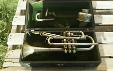 1912 GRAND RAPIDS Shepards Crook Perfect Tone Cornet by J. W. York & Sons