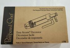 The Pampered Chef Easy Accent Decorator Frosting Kit #1778 Complete Set w Box