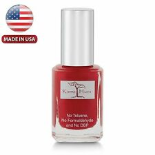 "Karma Organic's ""Red and Even"" : Nail Polish; Non-Toxic, Vegan, Cruelty-Free(#2)"
