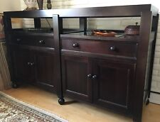 Crate & Barrel Buffet Cabinet - Dark Brown Wood