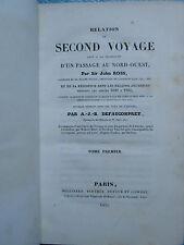 ROSS : RELATION DU SECOND VOYAGE REGIONS ARCTIQUES, 1835. 2 vol., carte, pl.