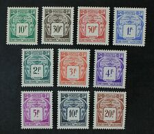 CKStamps: France Stamps Collection French Polynesia Scott#J18-J27 Mint H OG