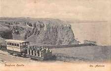 County Antrim Ireland birds eye view Dunluce Castle ruins antique pc Z17989