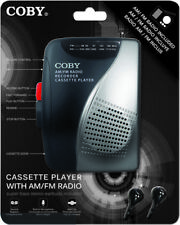 Coby CVR-28-BLK AM/FM Cassette Recorder W/ Stereo Earbuds