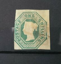 More details for gb queen victoria sg 55 1s green embossed cut square mint