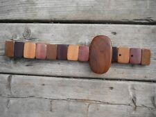 VINTAGE all types of WOOD TEAK OAK BIRCH belt small/medium