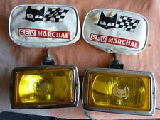 2 LONGUE PORTEE.DRIVING LIGHTS.SEV MARCHAL 859 GT JAUNE CUVELAGE NOIR + CACHE