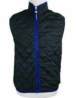 SPEEDO Mens Quilted Black Blue Vest Size Small
