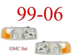 99 06 GMC Head Light Set, Assembly, Truck, Sierra, 1500, 2500, 3500 Both L&R !!