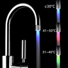 Glow LED Faucet Temperature Sensor Light 7 Color Shower Kitchen Water Tap