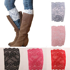 7 Colors Stretch Lace Flower Leg Warmers Trim Toppers Boot Socks Cuffs Fashion