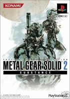 Used PS2 Metal Gear Solid 2: Substance Konami SONY PLAYSTATION JAPAN IMPORT