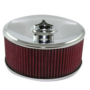 """9"""" x 4"""" (100mm) Holley Air Filter  suit 5 1/8"""" neck 16-211"""