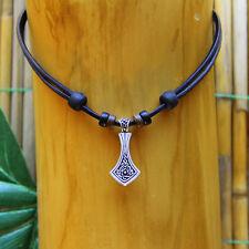 Lederkette Halskette Kette Wikingerkette Wikingerschmuck Keltenschmuck Odin Thor