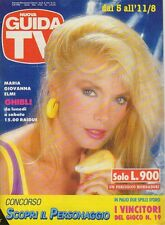 rivista NUOVA GUIDA TV ANNO 1990 NUMERO 31 MARIA GIOVANNA ELMI