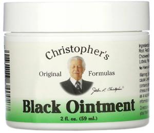 Christopher's Original Formulas Black Ointment 2fl oz 59ml removing toxins