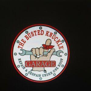 Busted Knuckle Garage Logo Fender Gripper Cushion Protective Fender Cover