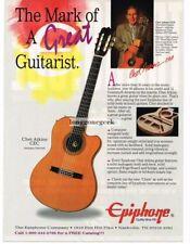 1995 Epiphone CHET ATKINS CEC Classical Electric-Acoustic Guitar Vintage Ad