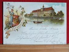 Farblitho - Gruss aus Breslau / Wroclaw - Universität - gel.1897 - schön !!   m1
