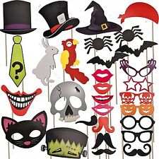 Halloween Photo Booth Prop Signs Kit Party Supplies Decorations Set Scary Cute