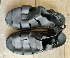 Doc Dr Marten Flash Black Leather Suede Fisherman Sandals Size 14 NWOB