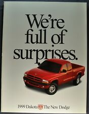 1999 Dodge Dakota Pickup Truck Brochure Sport SLT 4x4 Excellent Original 99