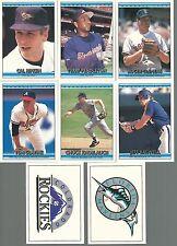 1992 Donruss Bonus Cards Complete Set 1 - 8   Baseball