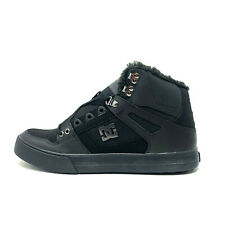 DC Pure High Top WC WNT Men's Black 14 Winter Faux Fur Skate Shoes New