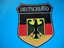 2  GERMAN DEUTSCHLAND FLAG SHIELD  CAR WINDOW BUMPER STICKERS MOTORBIKE HELMET