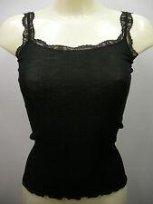 Top Canottiera Lana seta Donna Ragno Art.070161 T.6 Col.020 Nero Black