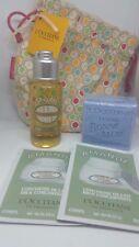 New L'Occitane Almond Oil, Concentrate & Lavender Soap Travel Size Set w/Bag!