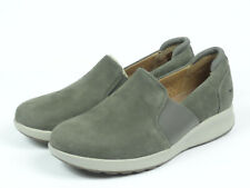 Clarks Women's ADORN Step Taupe Nubuck Slip-On Casual Shoes Size US 6.5W Wide