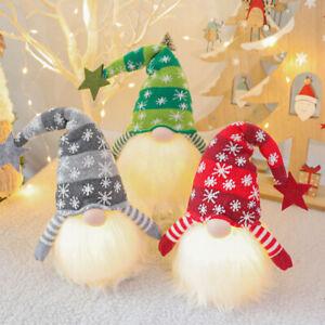 Christmas Light Up Big Gnome Plush Santa Doll Xmas Gonk Dwarf Elf Decor Ornament