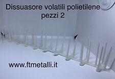 Pz 2 Dissuasore Dissuasori Polietilene Plastica Per Volatili , Uccelli 1 Mt Tot