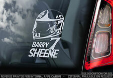BARRY SHEENE #7 - Finestra Auto Adesivo-Casco Moto Mondiale Superbike segno-V02