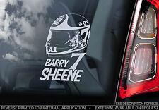Barry Sheene #7- Car Window Sticker - HELMET Superbike World Motorbike Sign -V02