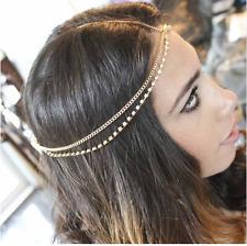 "Rhinestone Double Head Chain Silver up to 22"" Unique Jewelry Bohemian"