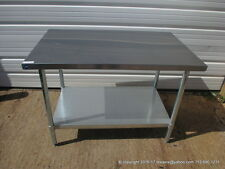 "New Stainless Steel Work Prep Table 48"" x 30"" , NSF"