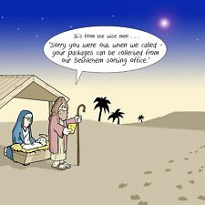 Merry Christmas Card with Missed Package -Funny Christmas Card -Xmas Card -Jesus
