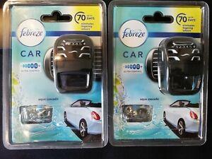 2 x Febreze Car Air Freshener Starter Kit  aqua cascade 7ml