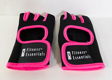 FITNESS ESSENTIALS Fitness Fingerless Gloves Cycing Black / Pink WOMEN'S SMALL