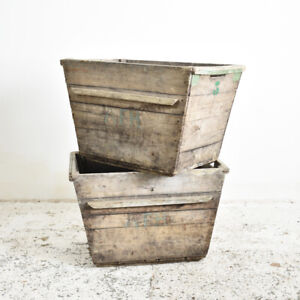 Industrial Vintage Antique French Champagne Trug -C