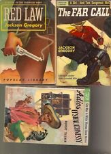 C389 Lot Of 3 Western Popular Library  Vintage Paperback Books