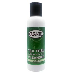 Ovante Tea Tree Oil Demodex Control Eyelid & Facial Cleanser Wash - 4.0 OZ